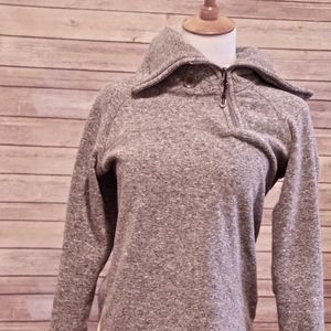 Heather Grey LOLE Asymetrical Collar Fleece